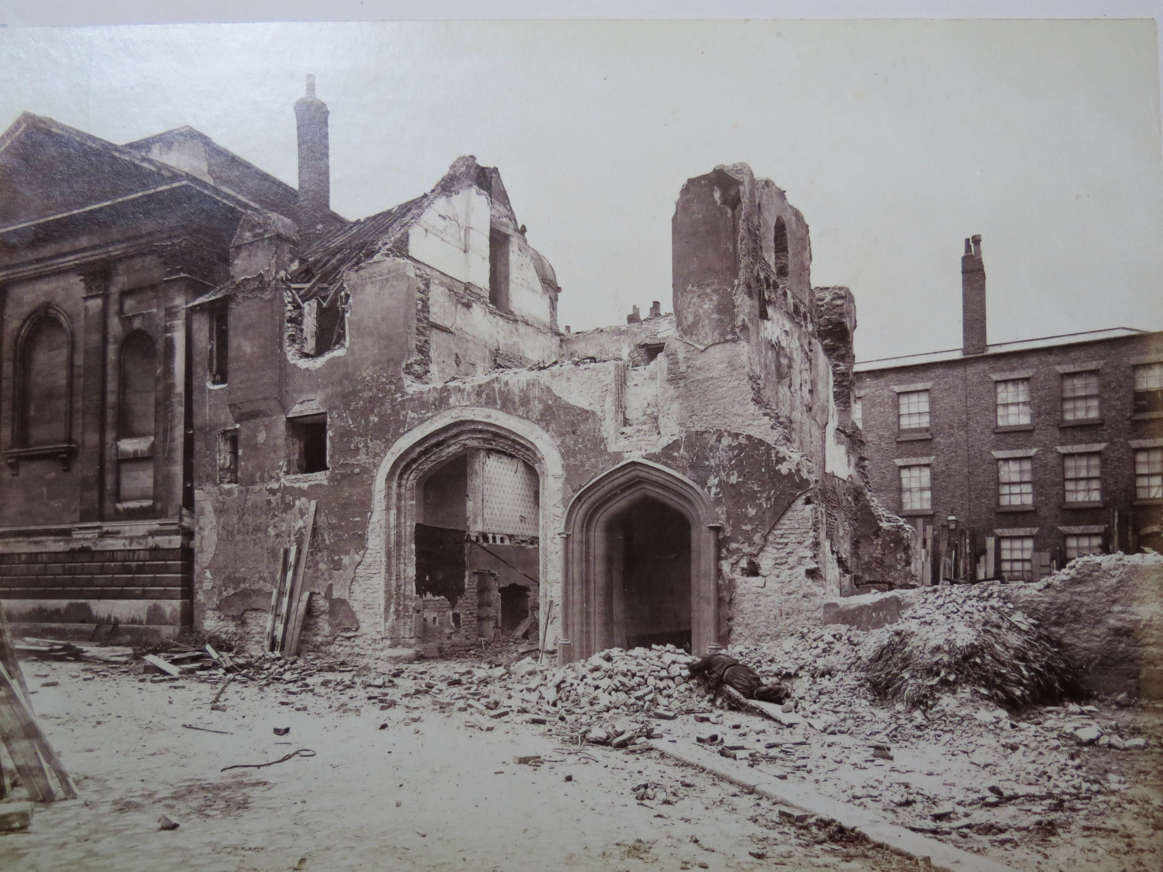 Victorian Foyer University : Trinity hall cambridge — a part of the college demolished
