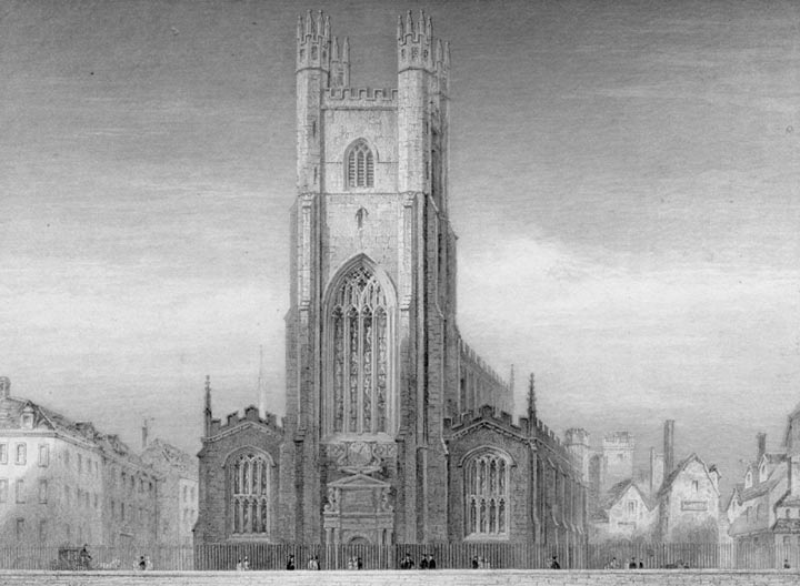 Great St Marys Church Exterior 1841 Views Of