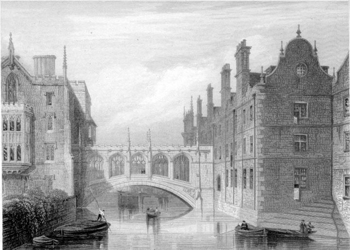 The new bridge by st john 39 s 1840 views of victorian for Cambridge architecture