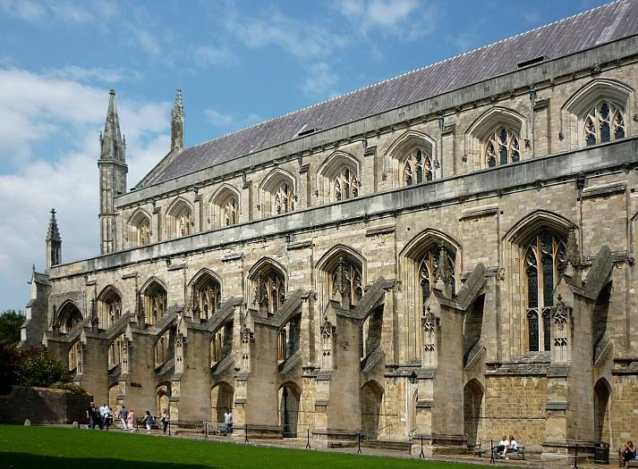Exterior Of Nave And Transept Winchester Cathedral Victorian