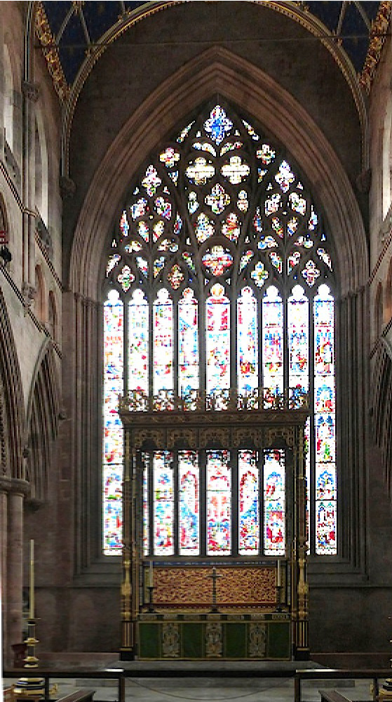 Front Elevation With Glass : Carlisle cathedral with victorian work by ewan christian