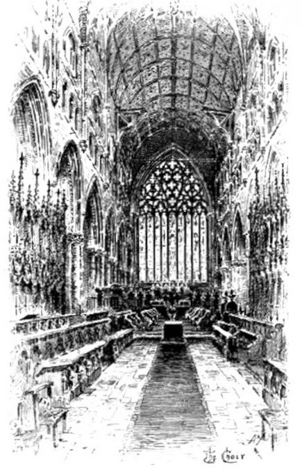 Front Elevation East Facing : Carlisle cathedral with victorian work by ewan christian