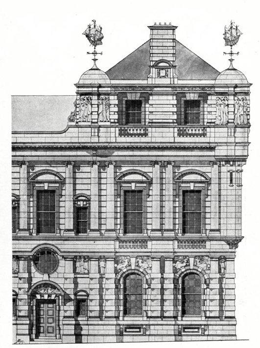 Lloyds Registry Of Shipping Fenchurch Street London EC By Thomas E Collcutt