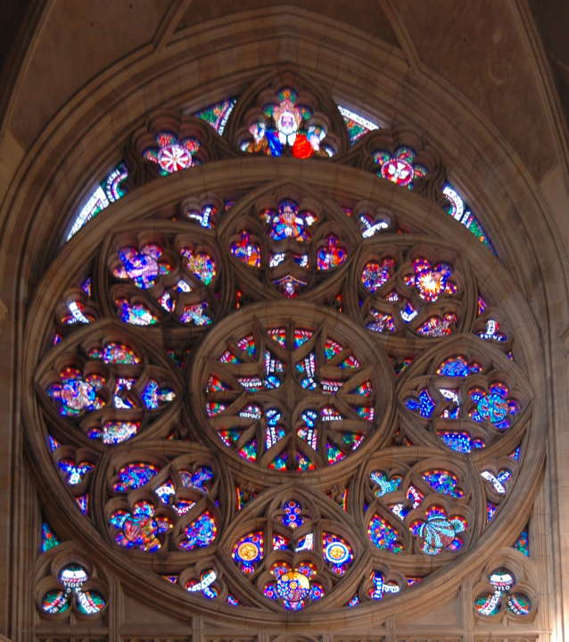 Rose Window On West Front St Vitus Cathdral Prague