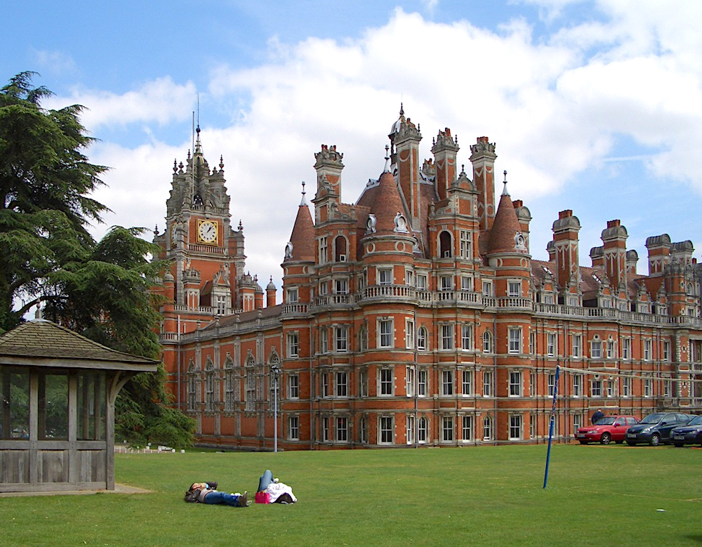 Royal Holloway College, University of London. Location: Egham, Surrey (19