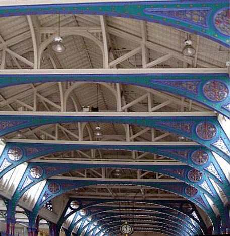 ... train stations (note the tunnels beneath it now used for parking storage etc.). In modern times the main cold store was converted to a power station. & Smithfield Market London EC1 by Sir Horace Jones