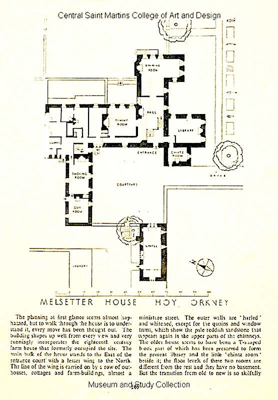 Melsetter house by william richard lethaby 1857 1931 for Arts and crafts floor plans