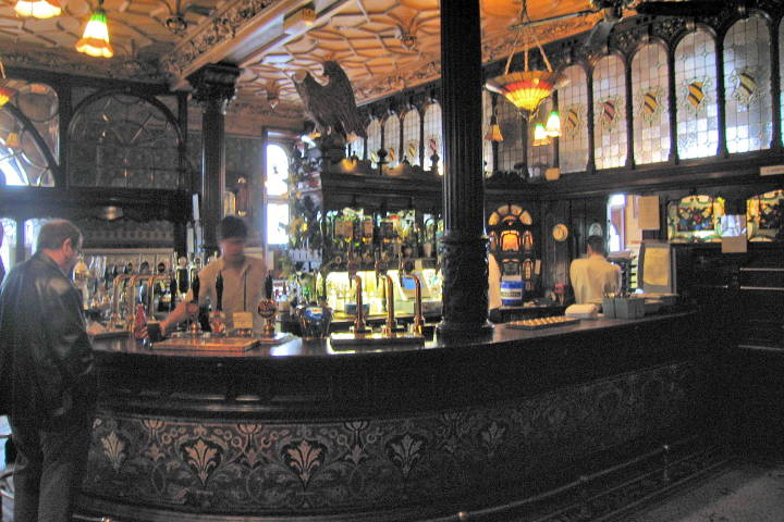 The Philharmonic Hotel S Bar In The Arts And Crafts Style