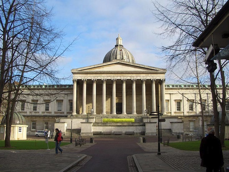 University College London, the Wilkins Portico The main building,