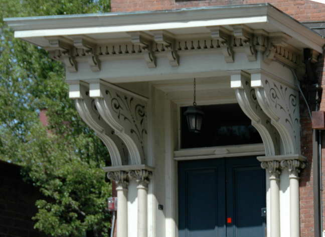 Houses With Corbels : Doorway roof with corbels thomas peckham house before