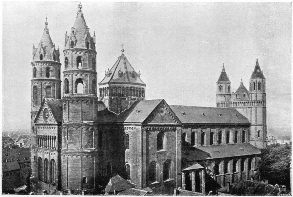 Worms Cathedral Viewed From The Northeast Plate 106 Click On Image