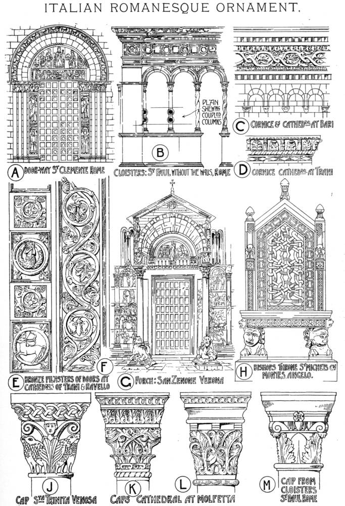 romanesque ornament - 100 images - characteristics of ...