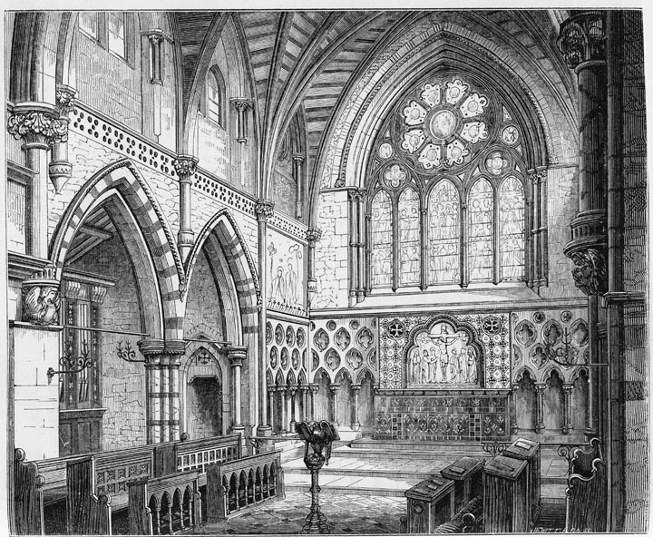 Chancel Of St Johns Church At Torquay 1869 Designed By George Edmund Street
