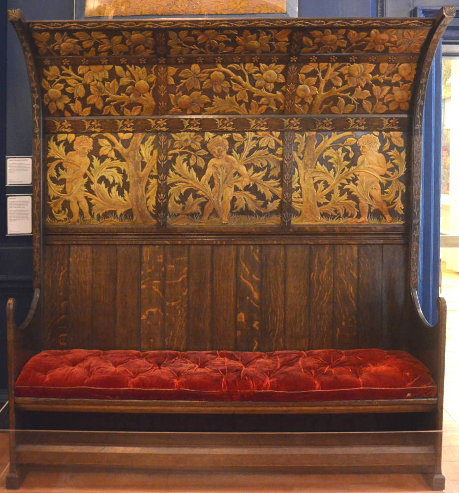 A Canopied Settle Of Similar Design To This One (now At The William Morris  Gallery, Walthamstow) Once Stood In The Dining Room Here.