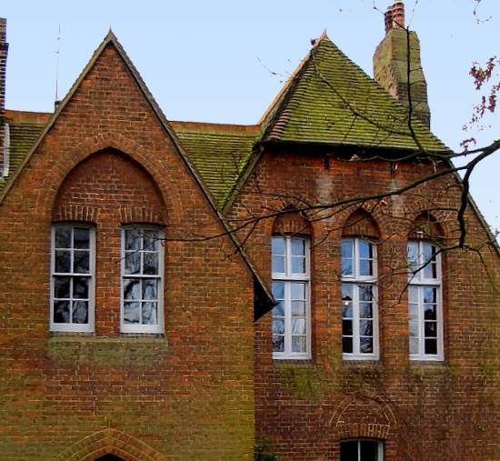 Fabulous Detail of window hoods on front of William Morris's Red House by  OG69