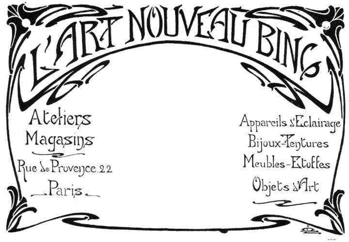 Advertisememt for l 39 art nouveau bing - Art deco et art nouveau ...
