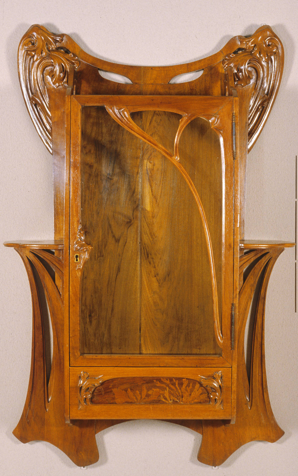 Wall cabinet by attributed to louis majorelle - Meuble art nouveau ...