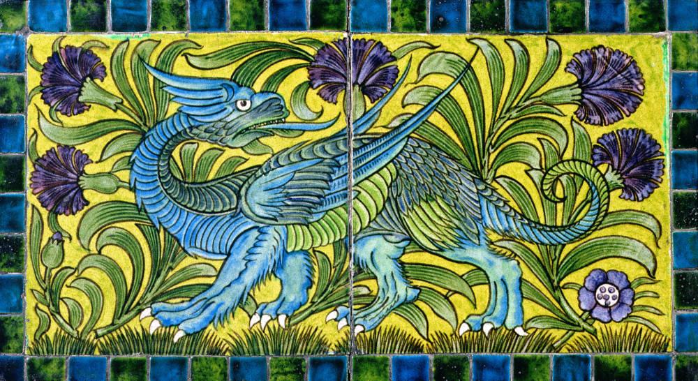 Panel of tiles. Decorative ceramic panel