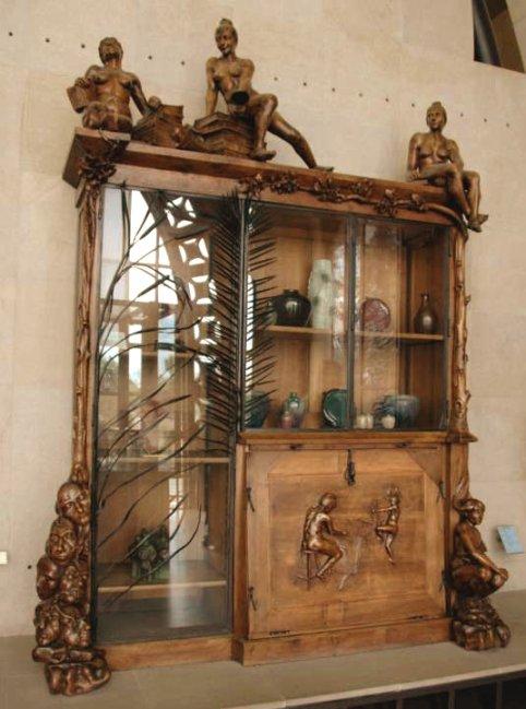 clip art bookcase. art nouveau ookcase