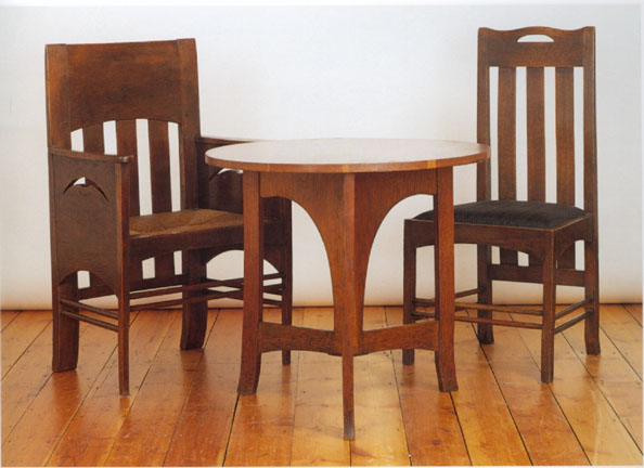 Table And Chairs By Charles Rennie Mackintosh