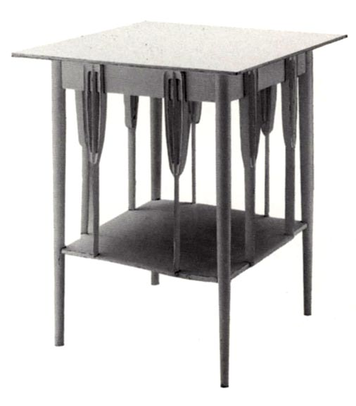 Square Table For The Drawing Room By Charles Rennie Mackintosh