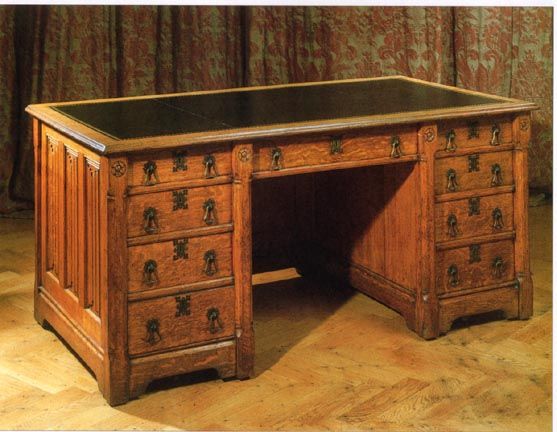 Gothic Revival Desk By Augustus Welby Northmore Pugin