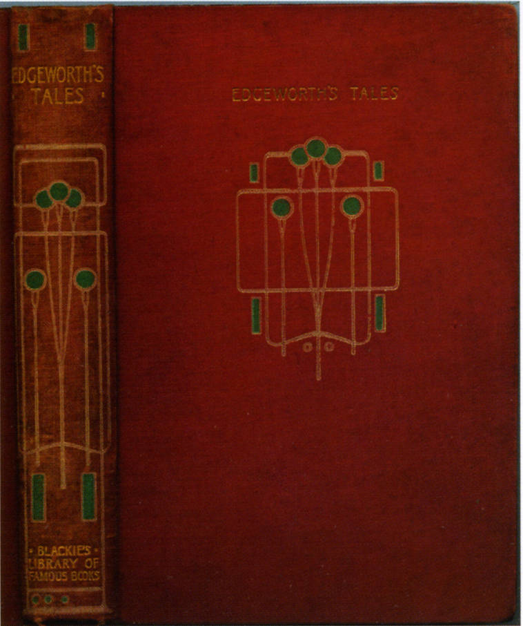 Book Cover Design Glasgow : Cover of maria edgeworth s quot moral tales — binding design