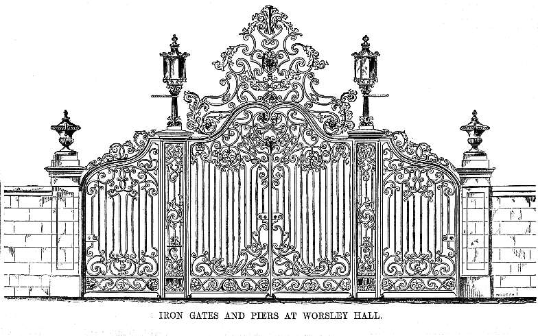 The Gates of Worsley Hall, drawn by Blore