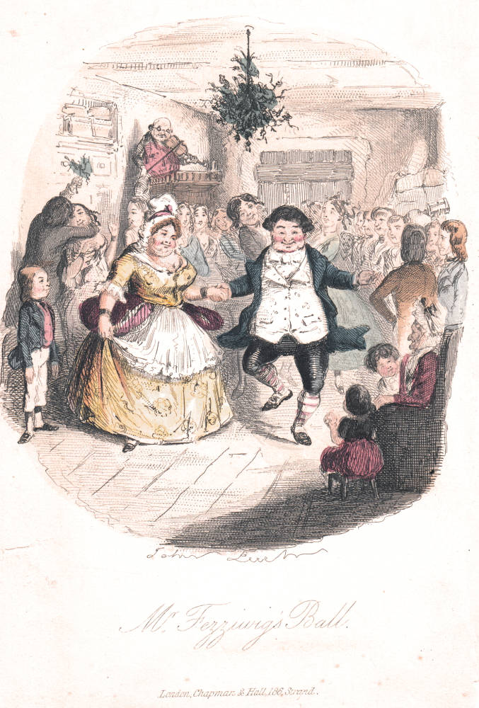 Christmas Illustration.A Gallery Of John Leech S Illustrations For Dickens S A