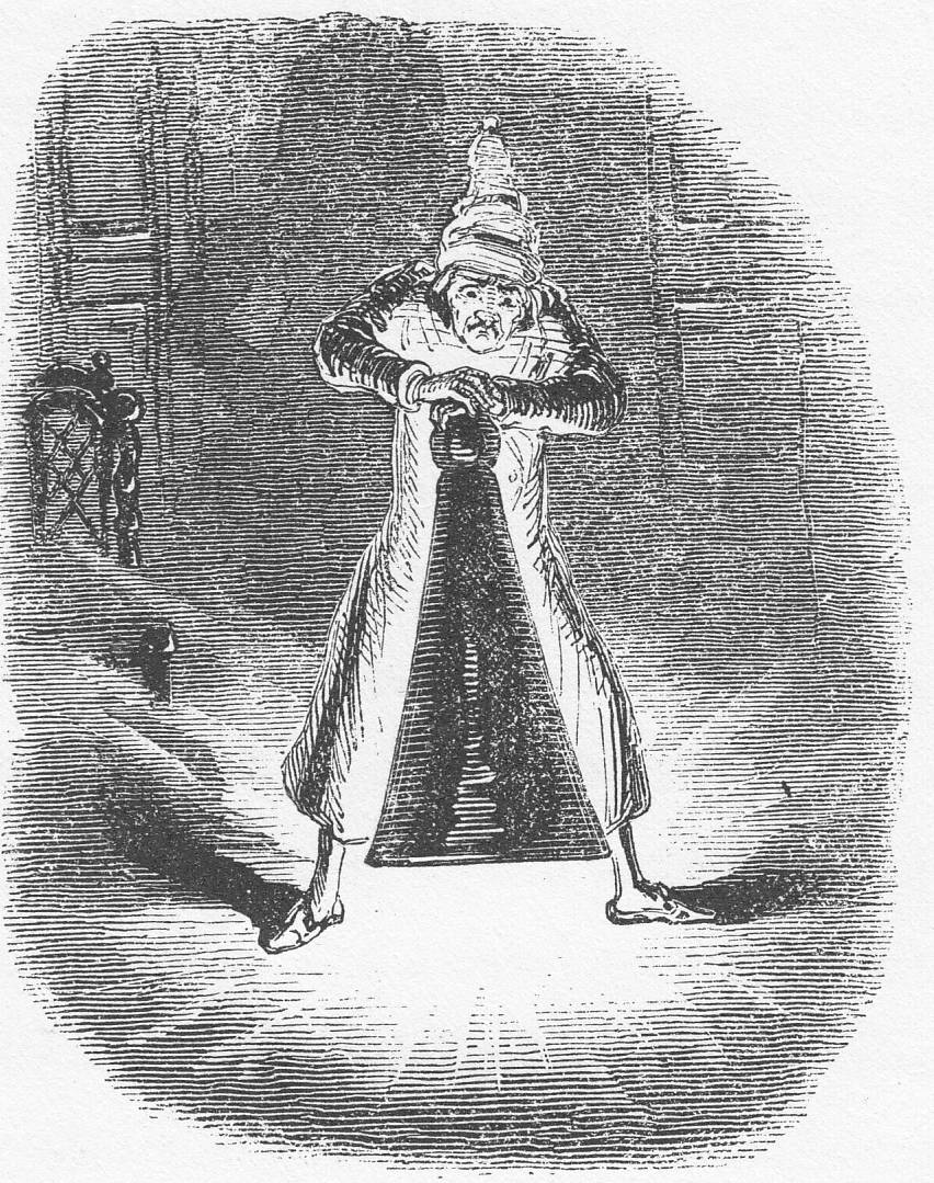 A Christmas Carol Spirits.Scrooge Extinguishes The First Of The Three Spirits By John