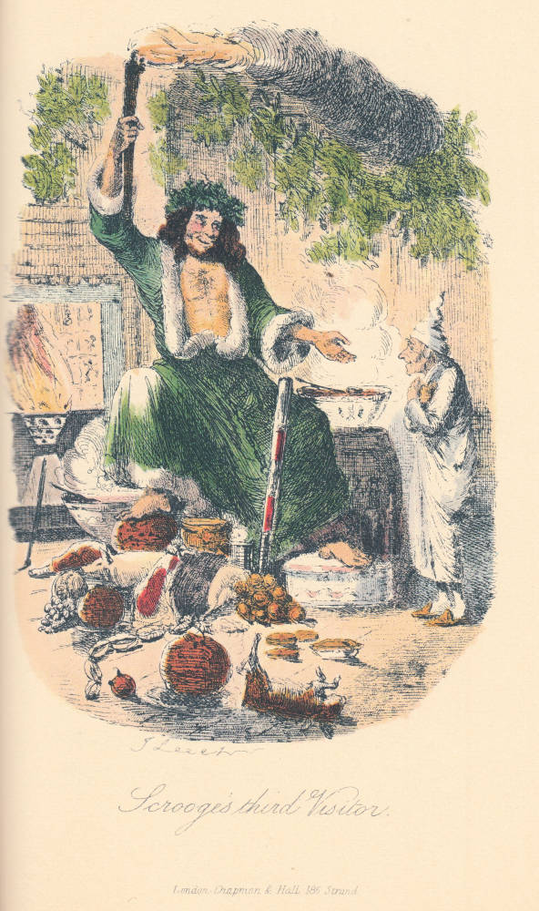 A Christmas Carol Spirits.The Second Of The Three Spirits Or Scrooge S Third