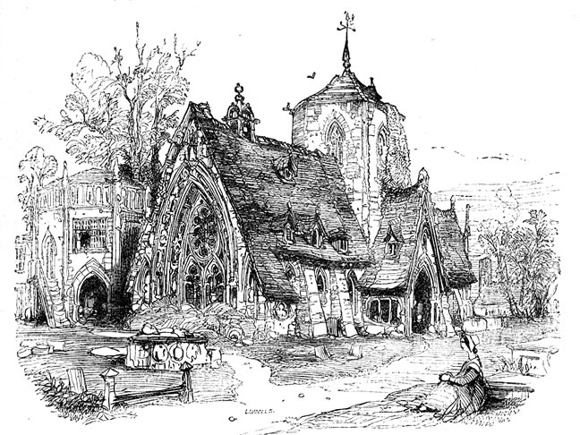 George Cattermoles Illustration Of The Old Church In Chapter 46 Dickenss Curiosity Shop Click On Image To Enlarge It