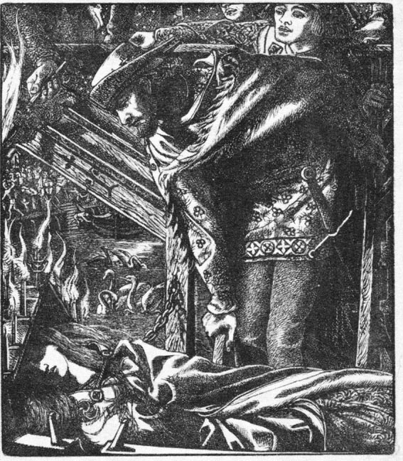 Illustration for'The Lady of Shalott' by Rossetti