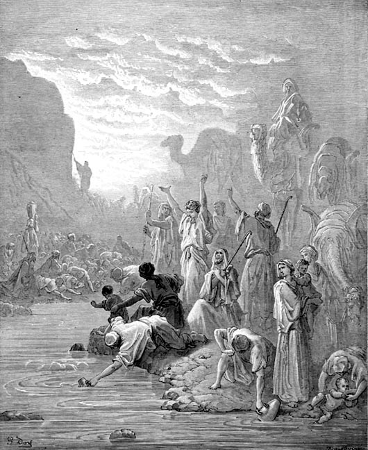 Dore's Moses Striking the Rock