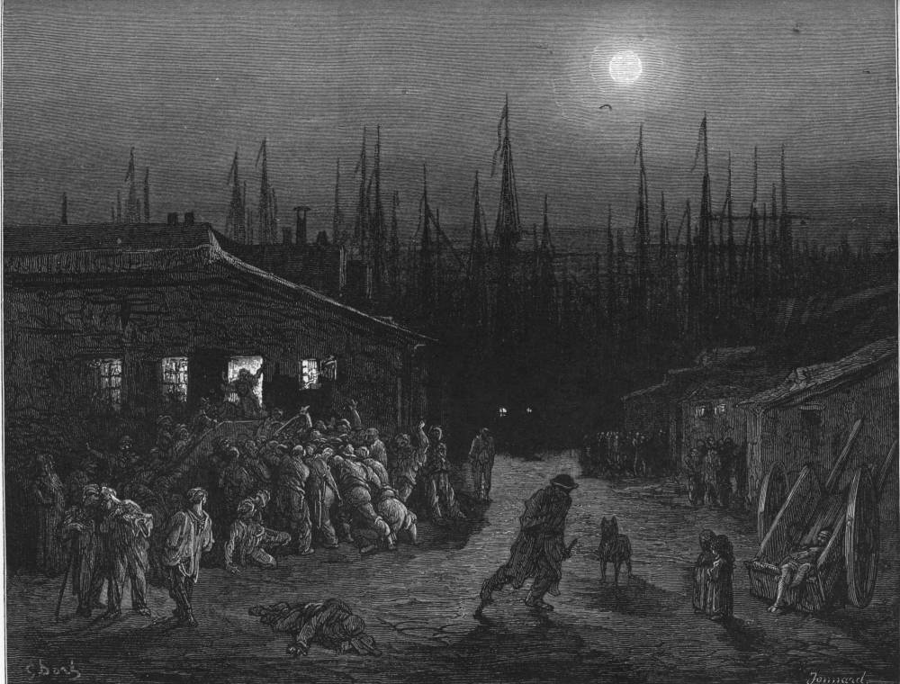 The Docks Night Scene An Illustration By Gustave Dor 233