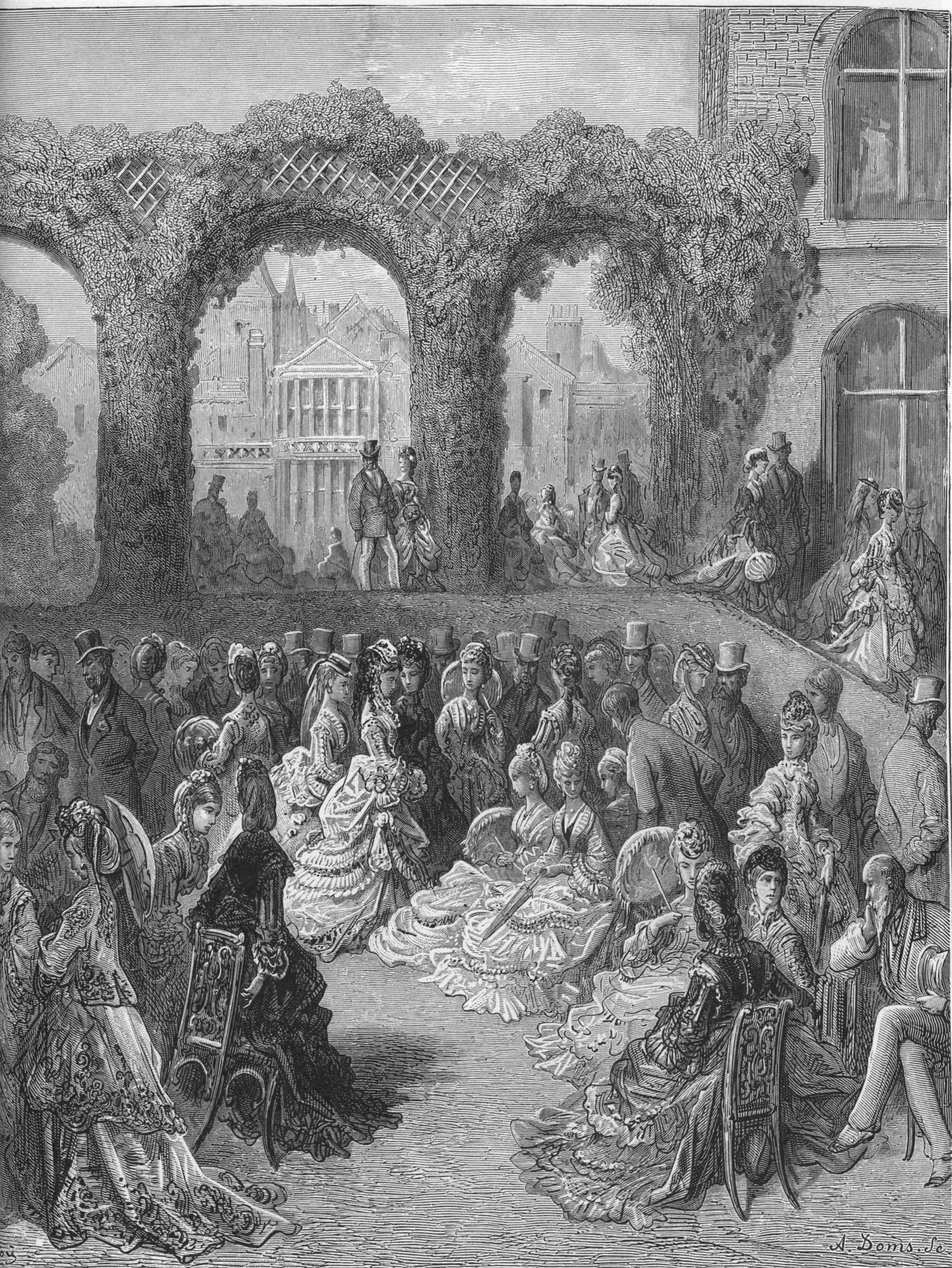 """""""Holland House — a Garden Party"""" an illustration by ..."""