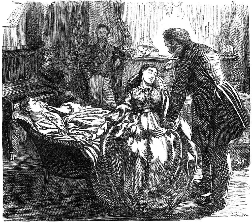 The Baron hypnotises Rosalie', by George du Maurier