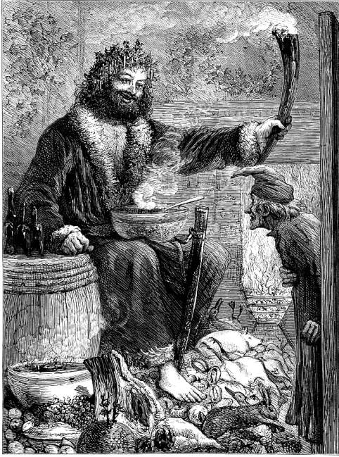 The Second Of The Three Spirits Or Scrooges Third Visitor By