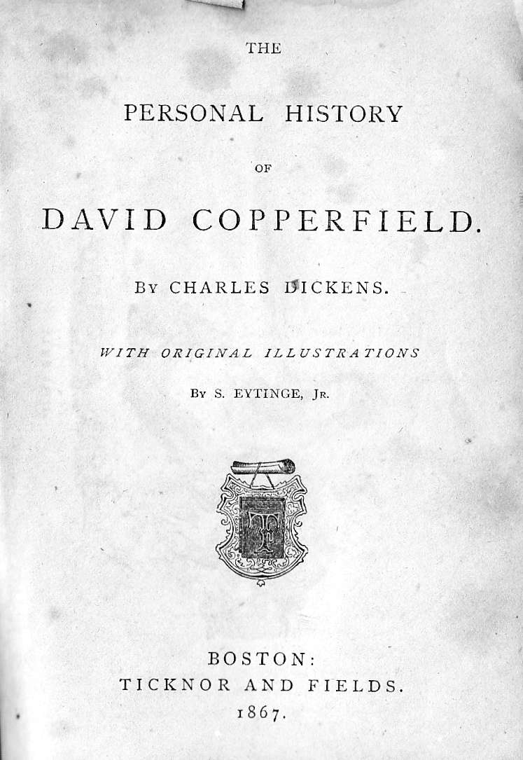 illustrations of dickens s the personal history of david cover of the diamond edition of the personal history of david copperfield 1867