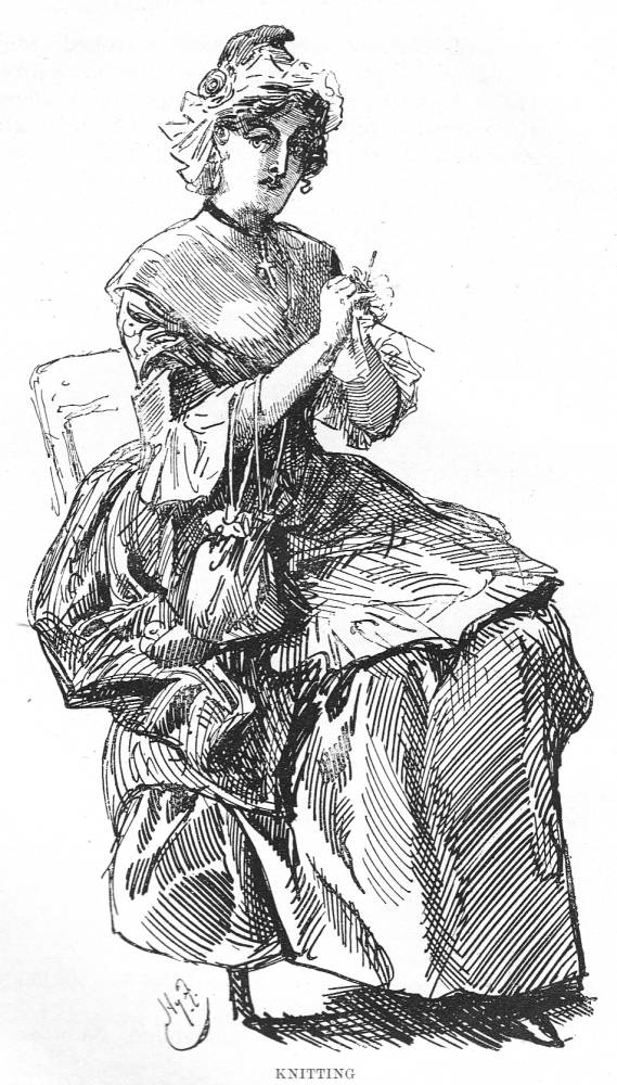 Knitting Lady In Tale Of Two Cities : Quot still knitting — furniss s sixteenth illustration for a
