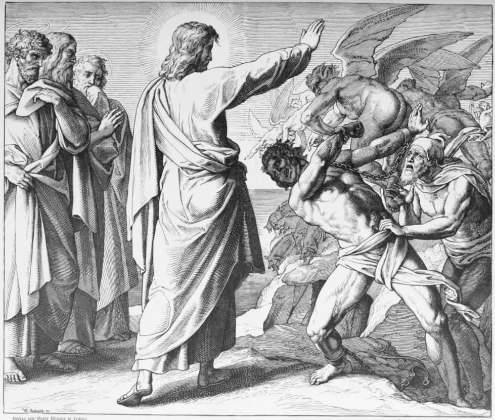 """""""Jesus Casts Out The Devils"""" By Julius Schnorr Von"""