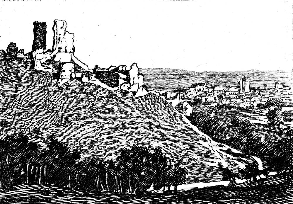 The Corvsgate Castle Of The Story Frontispiece For The Hand Of