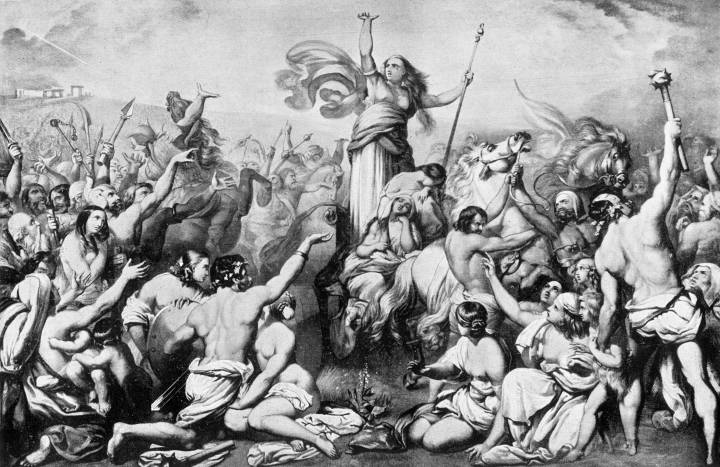 "Boudicca Harangued by the Iceni"" by Henry Courtney Selous (1803-90 ..."