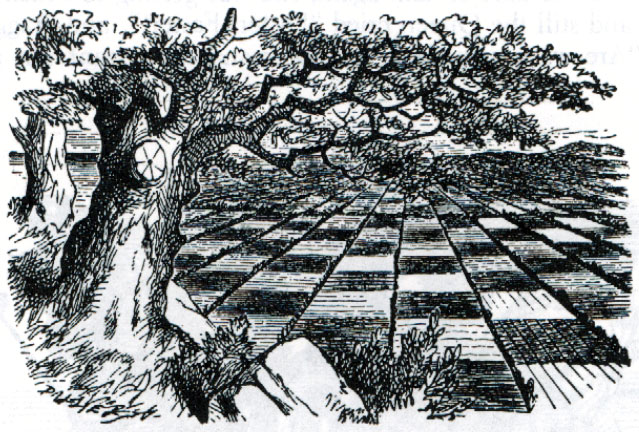 Illustration to Chapter 2 of Through the Looking-Glass by John Tenniel