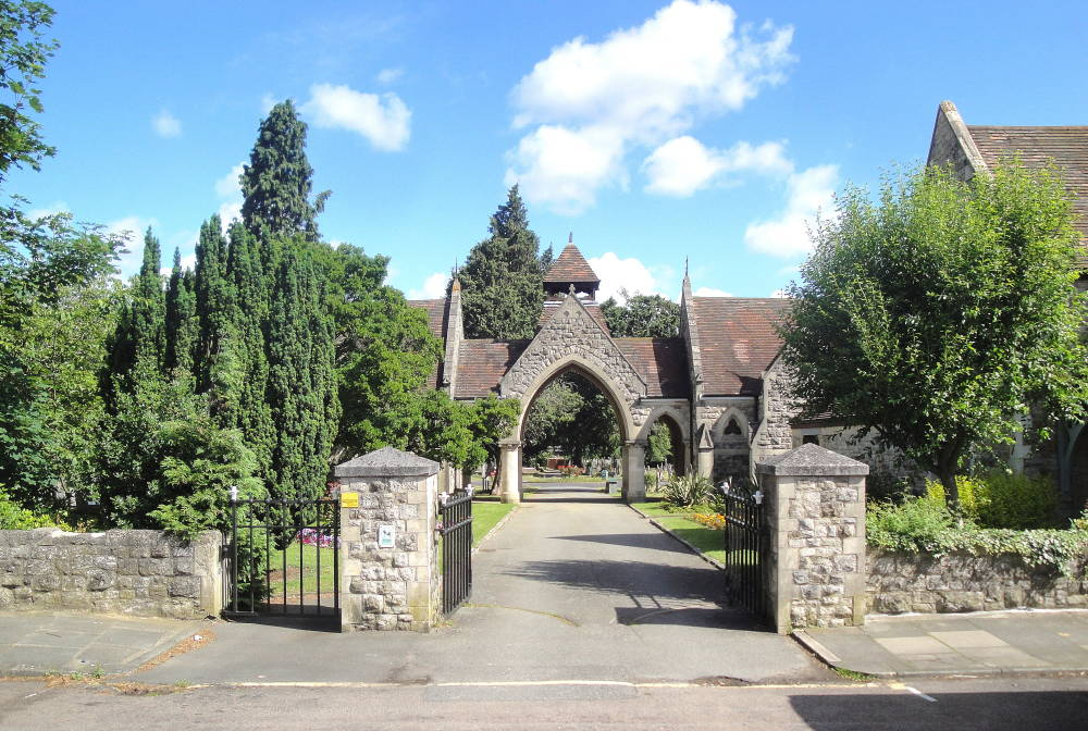 The entrance and lodge of beckenham cemetery bromley kent for The bromley
