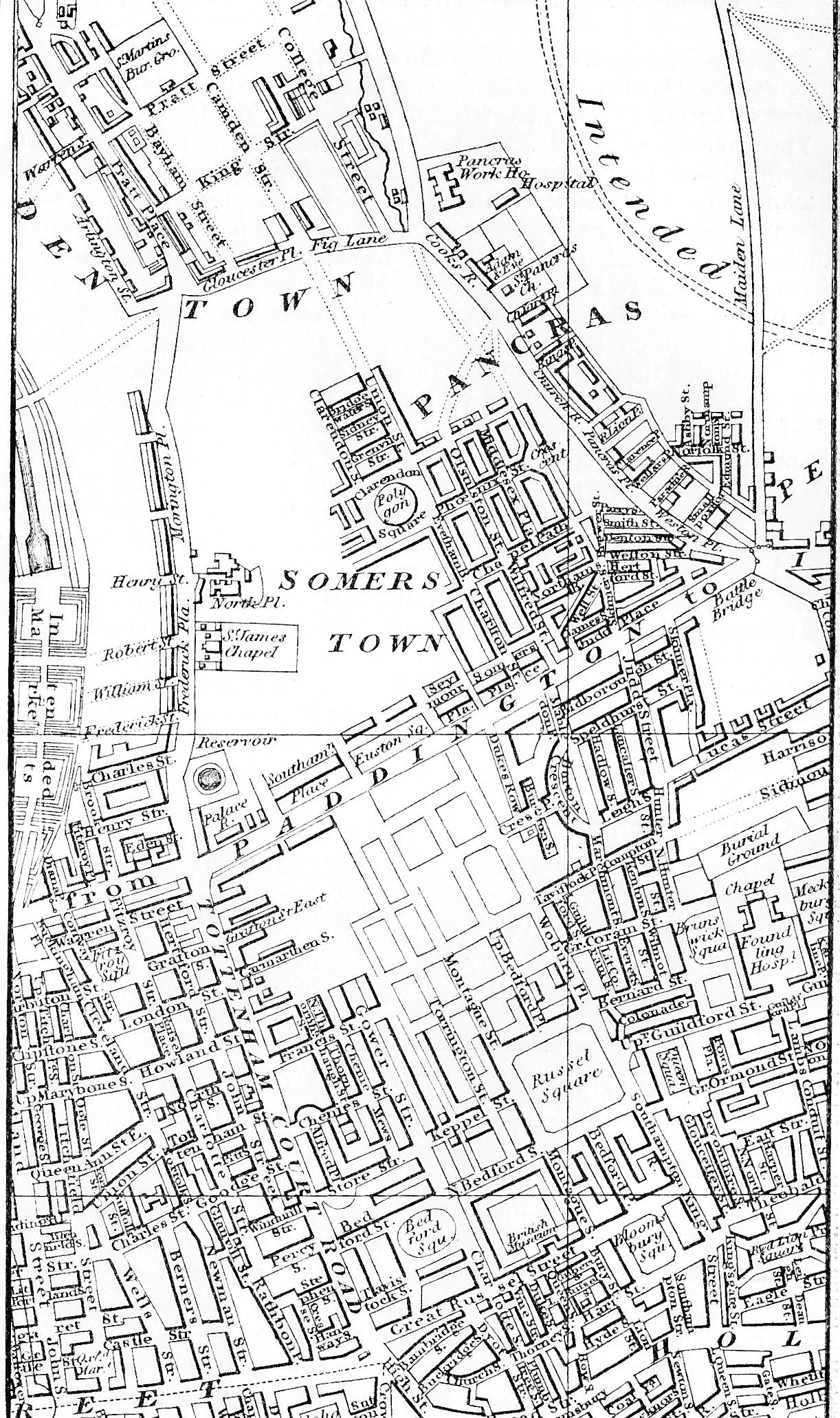 The London of Dickenss Lifetime Maps and Landmarks – Map of London Landmarks