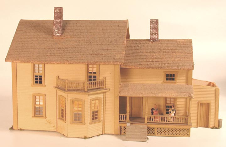 Scale house model parts