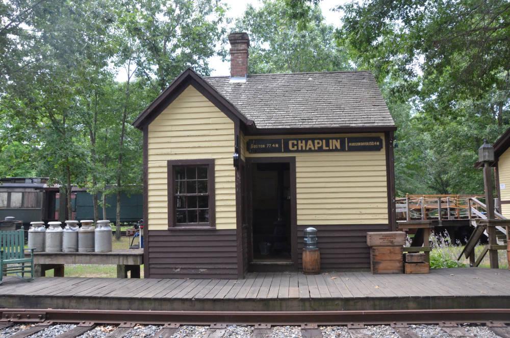 The Chaplin Connecticut Station exterior, Connecticut ...