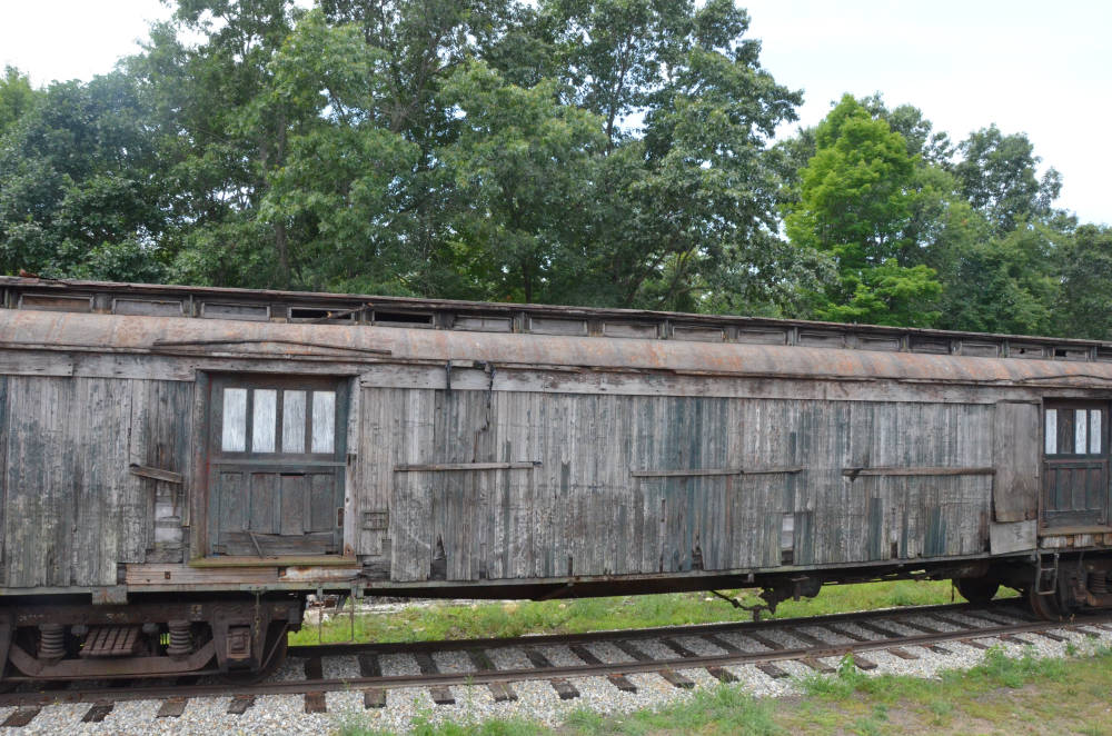 Wooden baggage car, Connecticut Eastern Railroad Museum