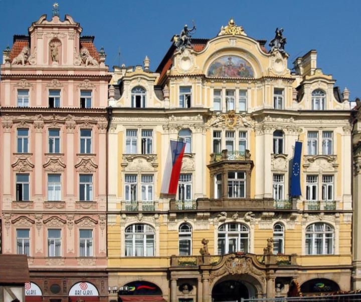 Art Nouveau façades, Prague